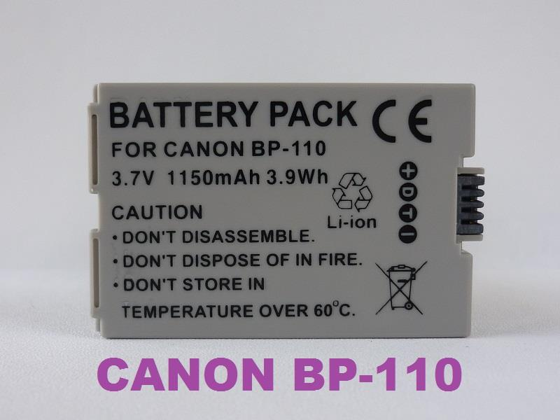 Replacement Battery for Canon BP-110 (Full Decoded)