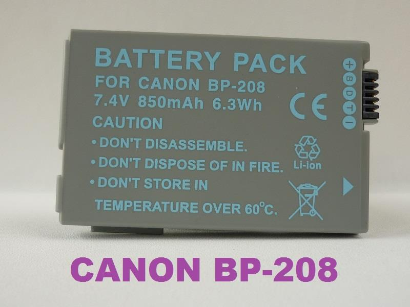 Replacement Battery for Canon BP-208