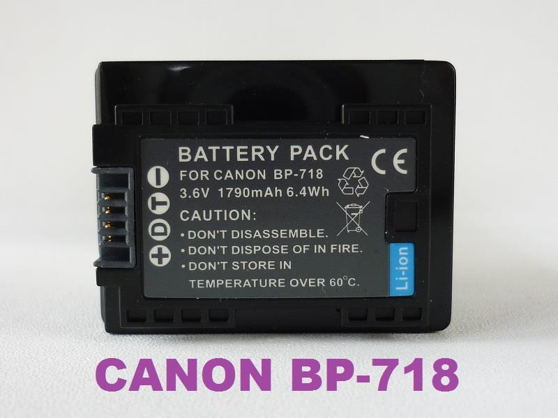 Replacement Battery for Canon BP-718 (Full Decoded)