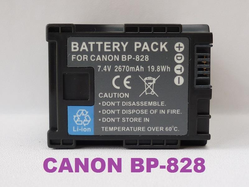 Replacement Battery for Canon BP-828 (Full Decoded)