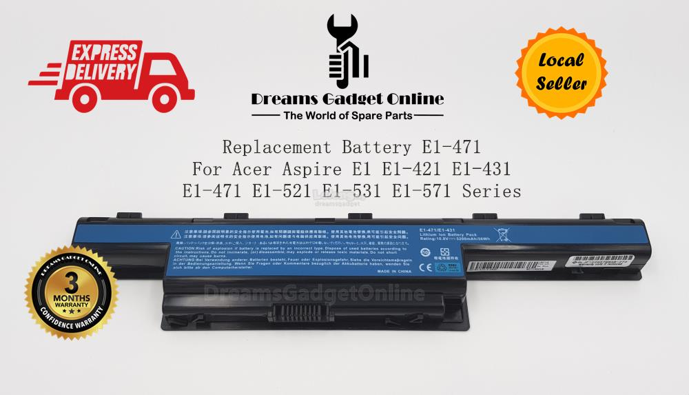 Replacement Battery E1-471 For Acer Aspire E1 E1-421 E1-431 E1-471