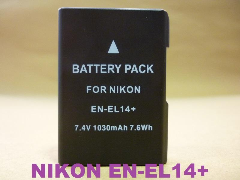 Replacement Battery for Nikon EN-EL14 (Full Decoded)