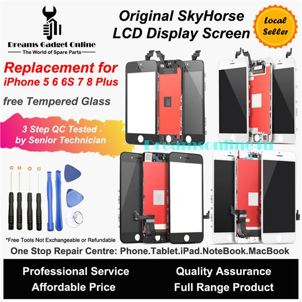 size 40 fb81e 4d5d9 Replacement Original SkyHorse Luxury LCD iPhone 5 5S SE 6 6S 7 8 Plus