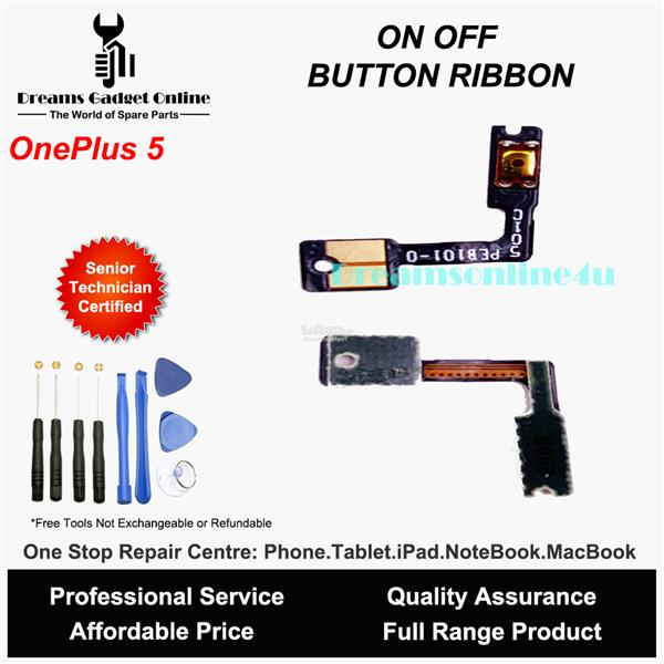 Replacement Power On Off Button Ribbon for Oneplus 5
