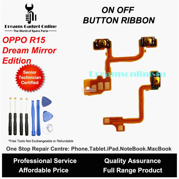 Replacement Power On Off Button Ribbon for Oppo R15 Dream Mirror
