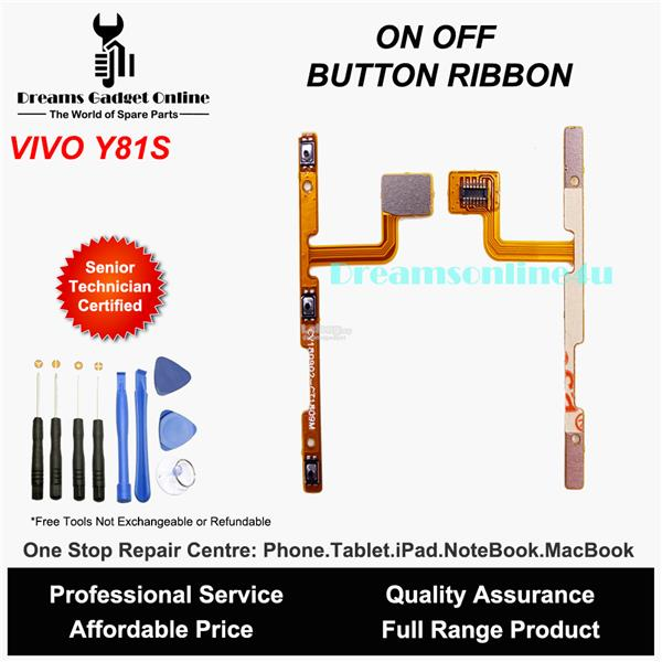 Replacement Power On Off Button Ribbon for Vivo Y81S