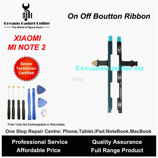 Replacement Power On Off Button Ribbon for XIAOMI MI NOTE 2