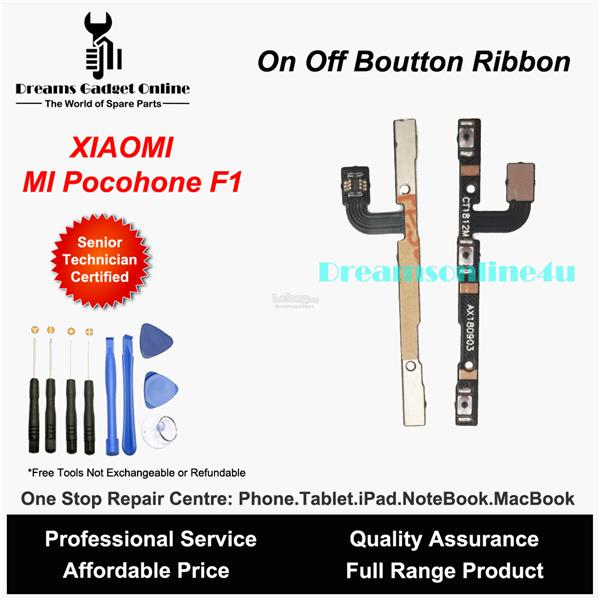 Replacement Power On Off Button Ribbon for XIAOMI Pocophone F1