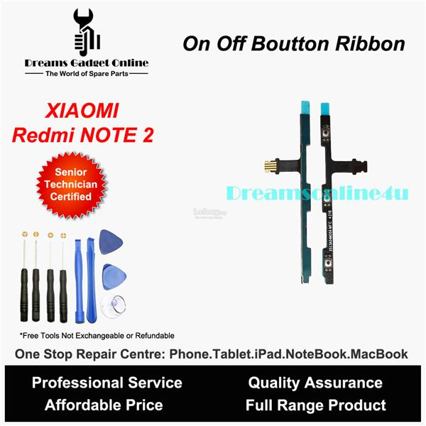 Replacement Power On Off Button Ribbon for XIAOMI Redmi note 2