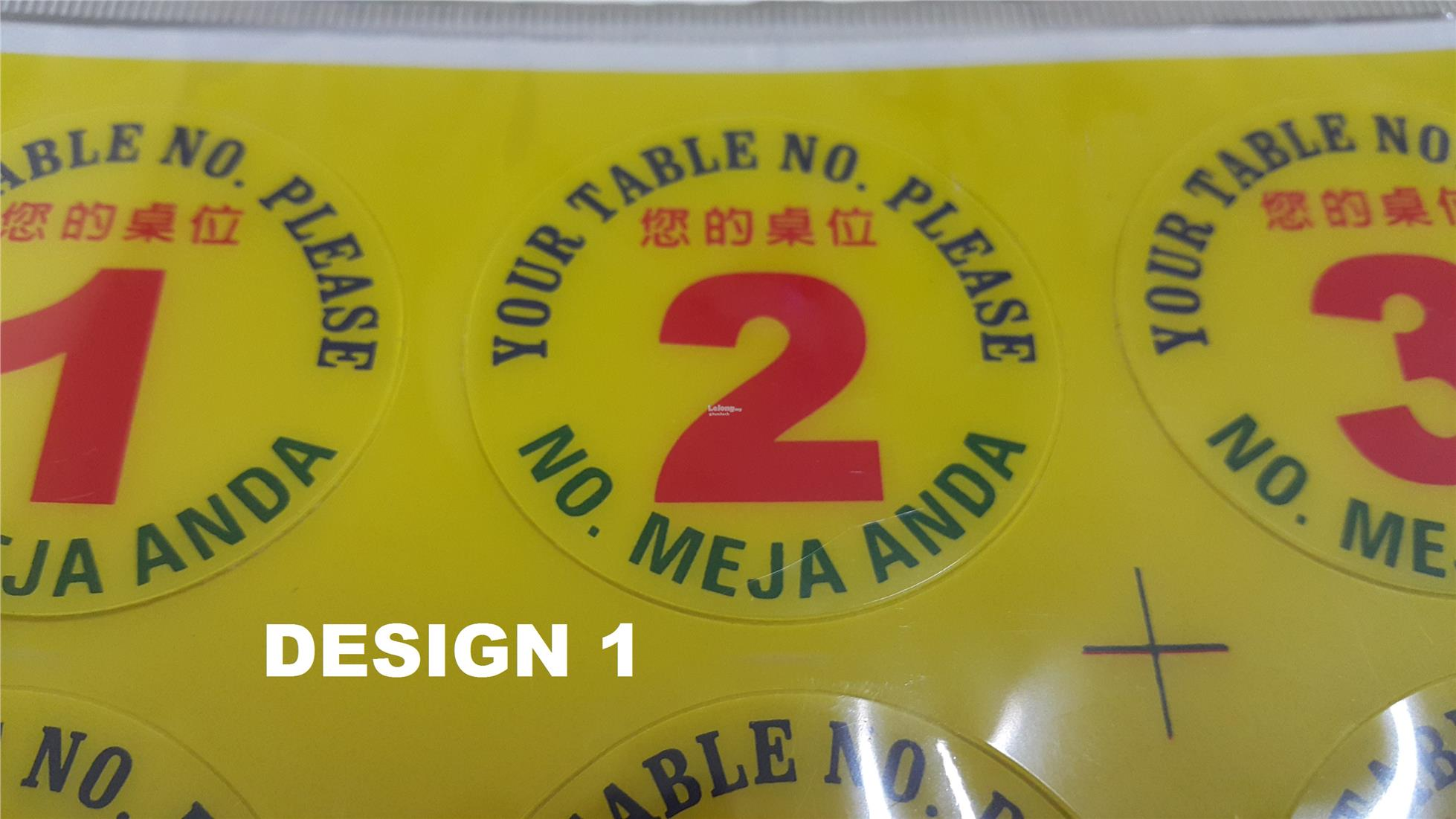 Restaurant Food Table Number Acryl End AM - Restaurant table numbering system