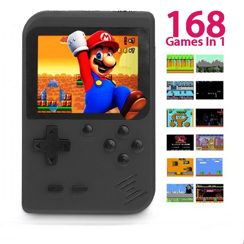 Retro Game Console Mini Palm Gameboy Mario Contra Sonic AV TV Output
