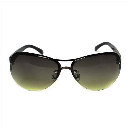 Retro Steel Half Frame Fashion Sun Glasses