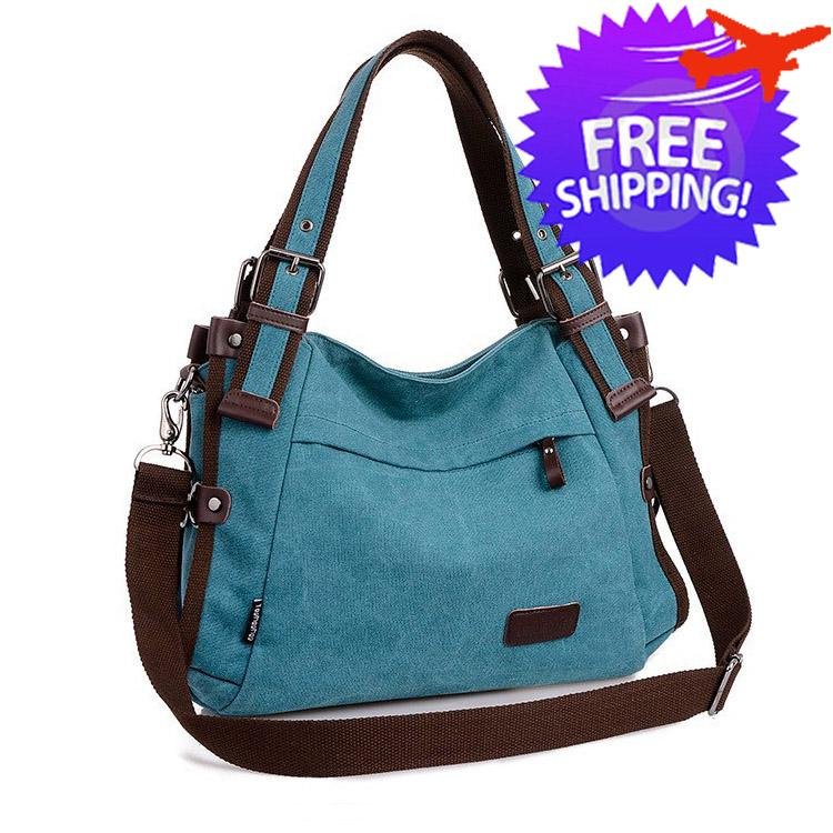 Retro Style Women Lady High Quality Large Capacity Canvas Shoulder Bag. ‹ › f15511dda