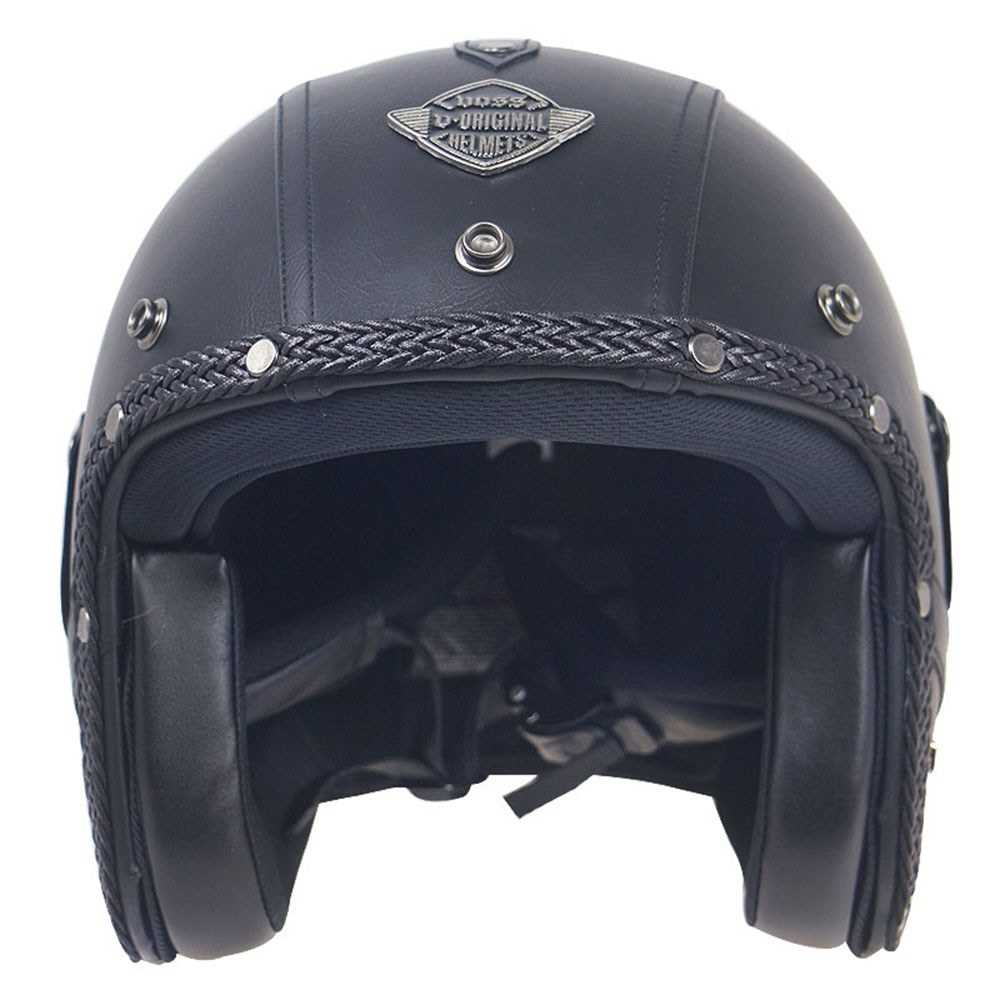 Retro Windproof and Sandproof 3/4 Motorcycle Bike Full Face Helmet