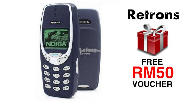 ++ RETRONS ++ NOKIA 3310 CLASSIC BLUE REFURBISHED (FREE RM50 VOUCHER)
