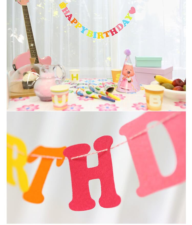 reusable party decorations letter banner happy birthday banner