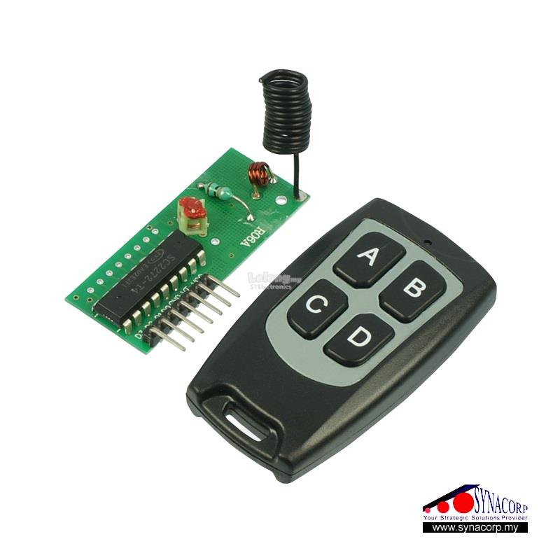 RF 4CH Remote Control Kit (Toggle)