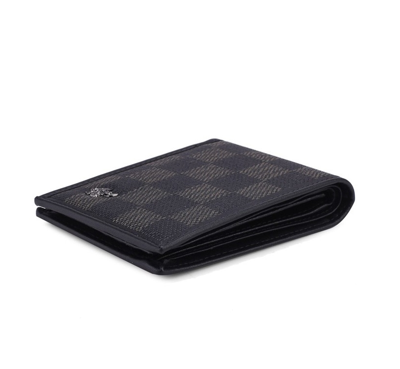 RFID Blocking Bi-Fold Leather Wallet - Black SW 121-2