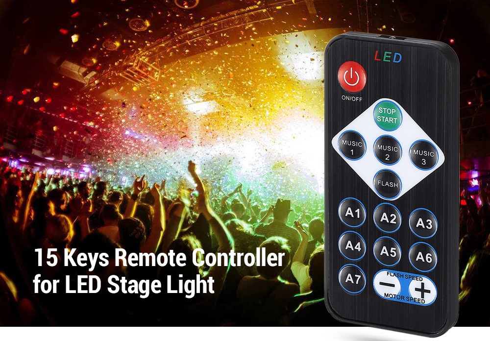 RGB Led Controllers - 15 Keys Remote Controller For RGB Led Stage Ligh..