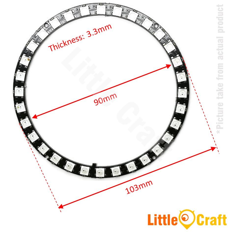 RGB LED Ring 32x WS2812 5050 NeoPixel Module