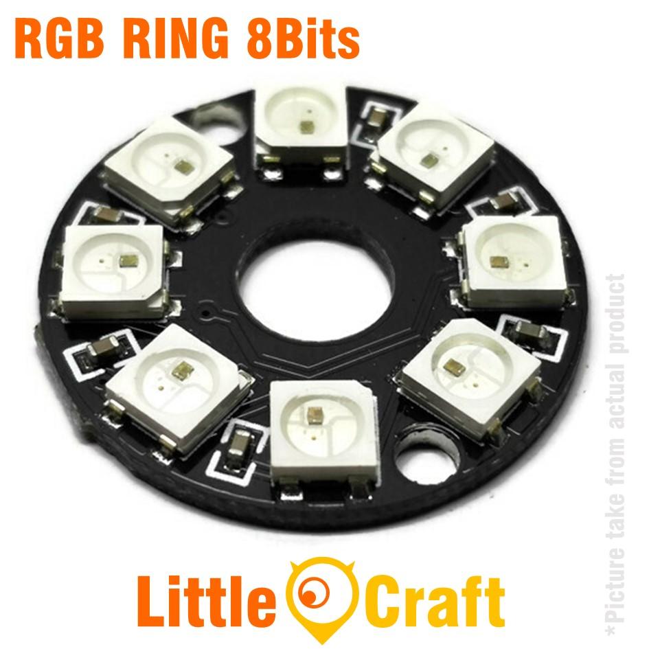 RGB LED Ring 8x WS2812 5050 NeoPixel Module