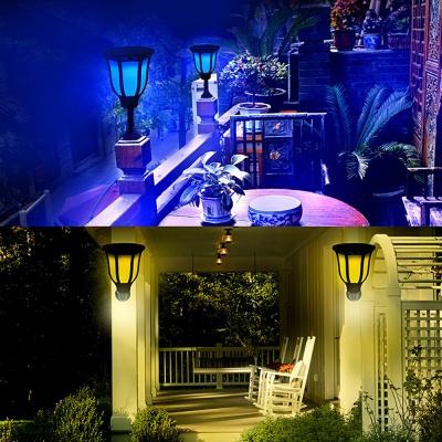 best loved 6a01d 8f8ed RGB Solar Spotlight Wall Lamp Landscape Light