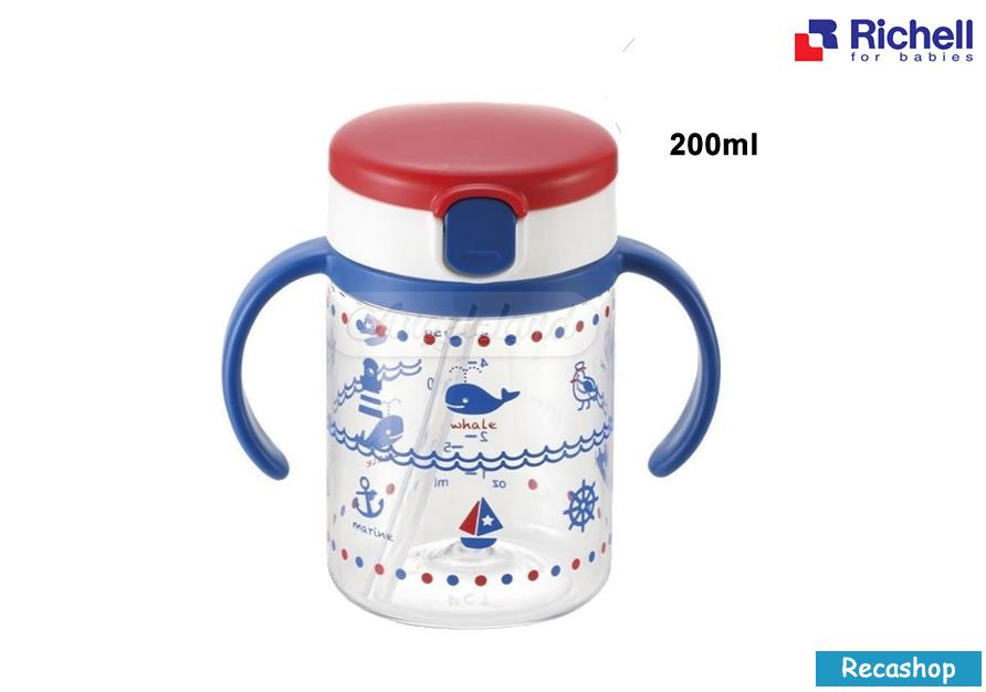 Richell AQ Straw 200ml Mug (Navy Blue)