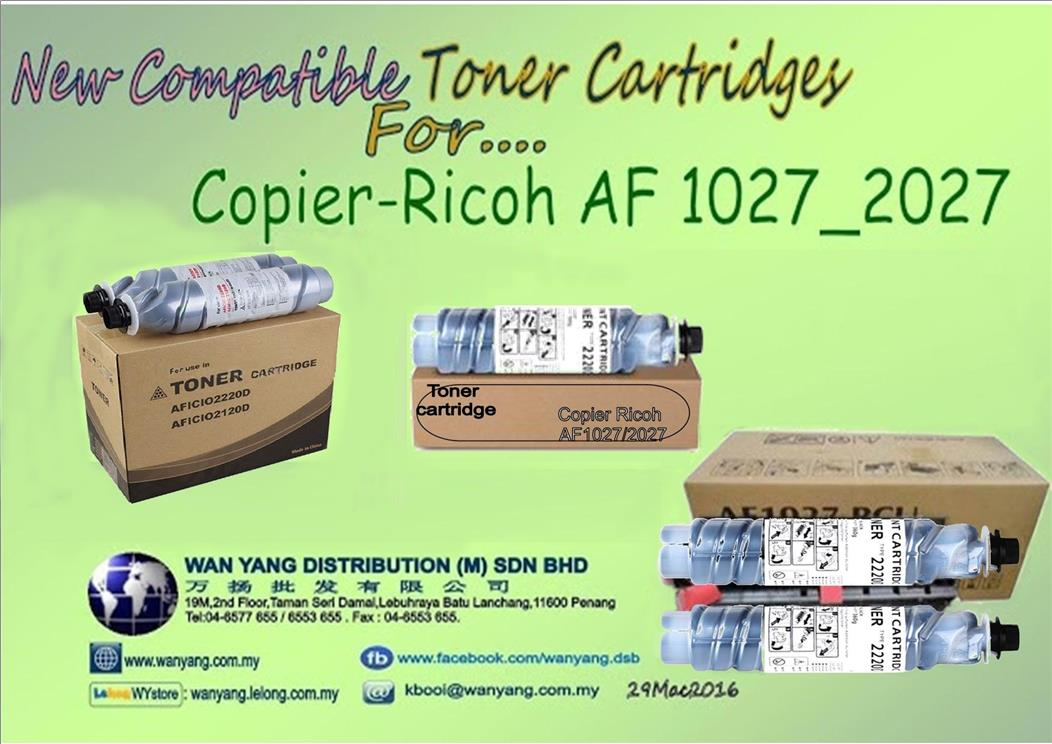 Ricoh AF 1027/2027 Compatible MONO   copier Toner cartridges