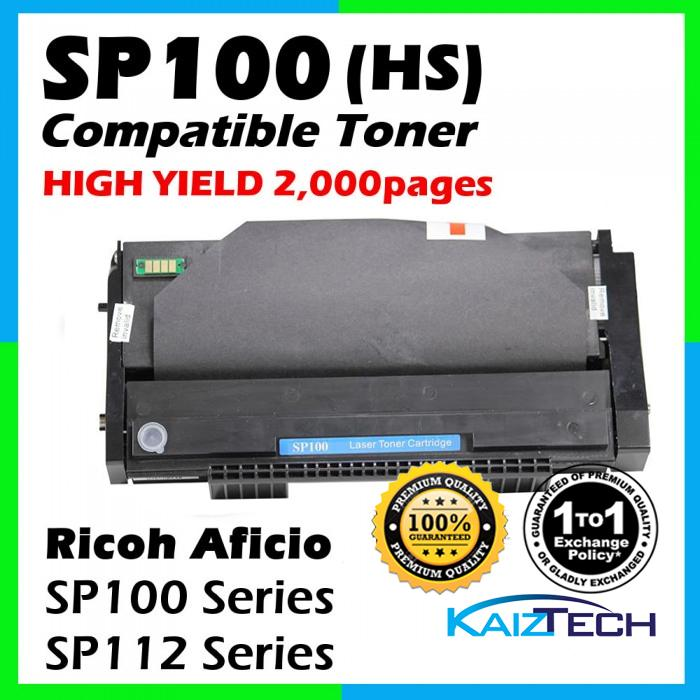 Ricoh SP100 / SP112 Compatible Toner Cartridge For Ricoh Aficio SP100e / SP100