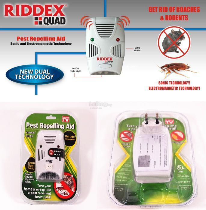 Riddex Quad Pest Repelling Aid Repeller Control Insect Rat Repellent