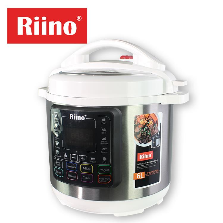 Riino 6L Electric Intelligent Pressure Cooker All In One [Free 7 Acc]