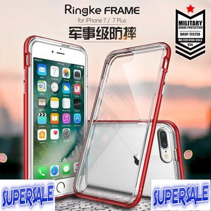 RingKe Transparent Silicone Casing Case Cover for iPhone 7 & 7 Plus