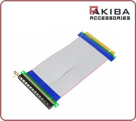 Riser PCIe Pci Express 16x Male To Female Extender Ribbon Cable 24cm