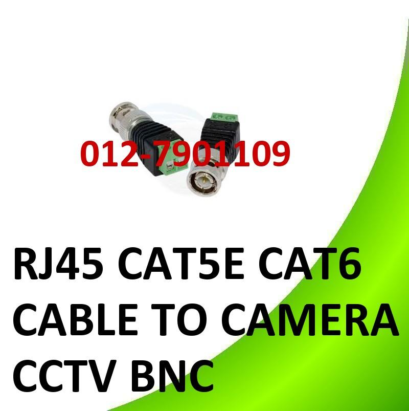 *RJ45 CAT5E CAT6 CABLE TO CAMERA CCTV BNC VIDEO BALUM CONNECTOR