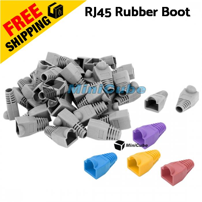 RJ45 Network Connector Cover Cap Rubber Boot
