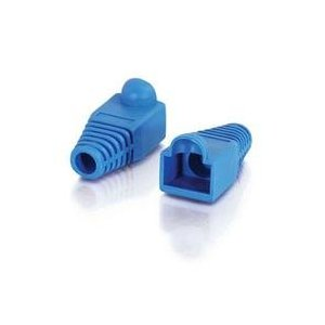 RJ45 NETWORK CONNECTOR COVER PVC RUBBER BOOTS (50PCS) BLUE