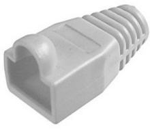 RJ45 NETWORK RUBBER CONNECTOR PVC COVER RUBBER BOOTS (10PCS) GREY