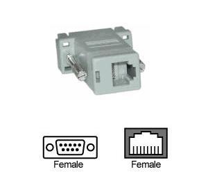 RJ45 TO SERIAL DB9F CONVERTER, F640