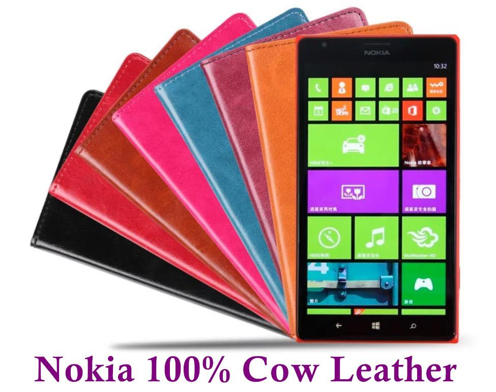 pretty nice bcddc 953ad Rmet Cow Leather Nokia Lumia 1320 1520 Flip Case Cover + Free SP