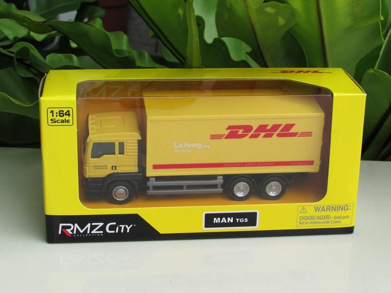 RMZ 1/64 Diecast MAN TGS DHL Delivery Truck (Yellow)