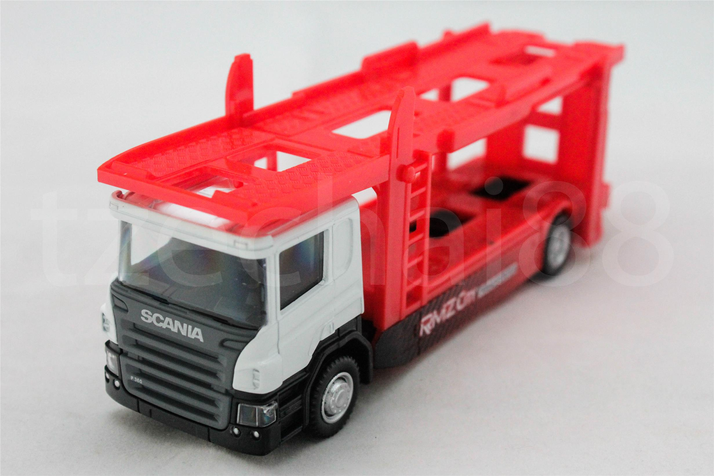 RMZ City 1:64 DIECAST Scania Car Carrier Trailer White Color Model New