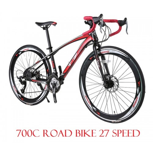 Road Bike 700C Bicycle 27 Speed Disc Brake High Carbon Steel. U2039 U203a