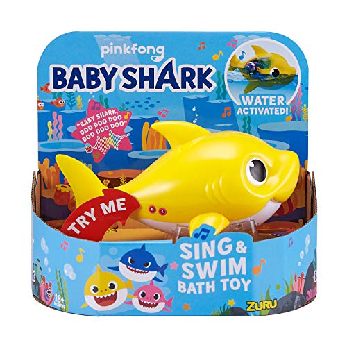 Robo Alive Junior Baby Shark Battery-Powered Sing and Swim Bath Toy by ZURU -