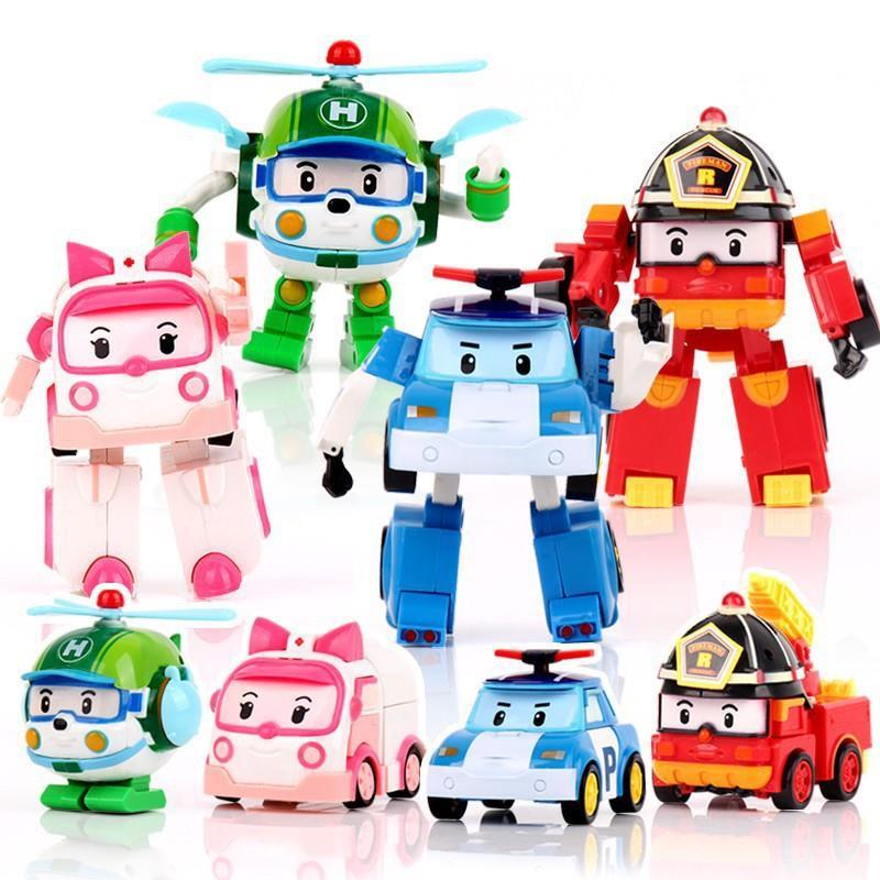 Robocar Poli Amber Poy Helly Transformable Robot Yoys 1pcs TY150011