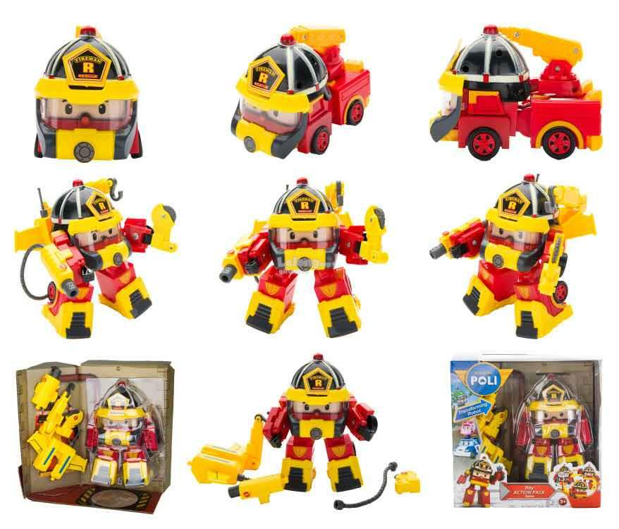 Robocar Poli - Roy Action Pack Space & Super Fireman (2 in ...