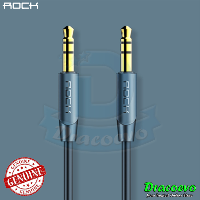ROCK Audio Cable 3.5mm Male to Male Aux iPhone Car Headphone Speaker 1