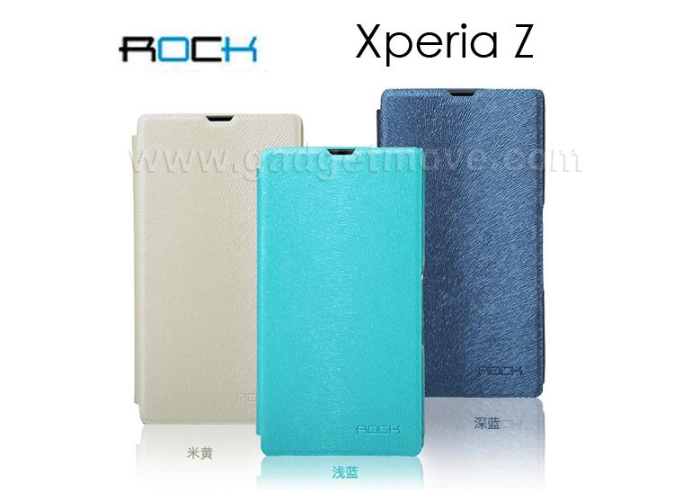 huge discount 33e5b 1919a ROCK Big City Sony Xperia Z Flip Cover Leather Case Pouch