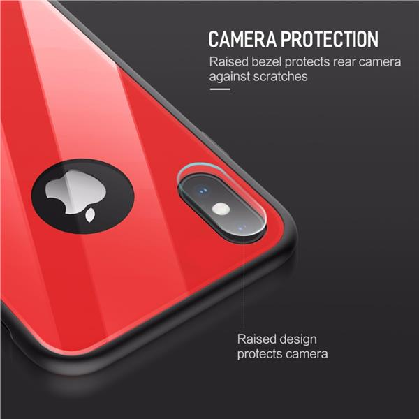 ROCK Brilliant Series iPhone 7 8 Glass Protection Back Case Cover
