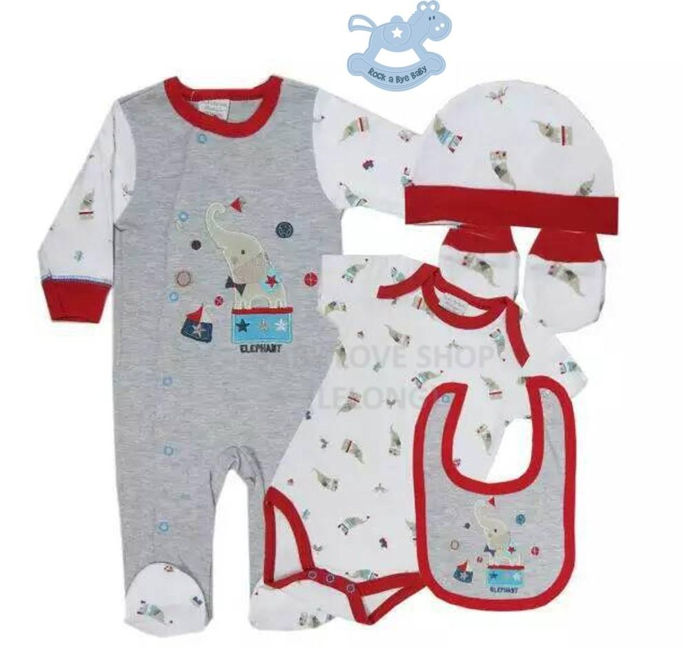 Rock a bye baby 5 pieces elephant th end 5182019 330 pm rock a bye baby 5 pieces elephant themed clothes gift set negle Gallery