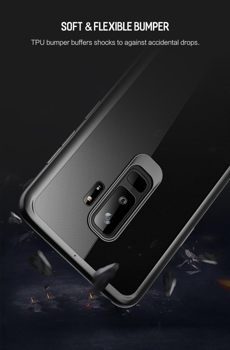 reputable site 15b45 62b7e ROCK Clarity Series Samsung Galaxy S9 Protection Case Cover